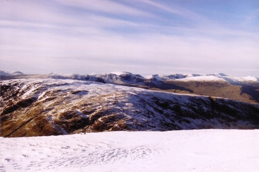 Helvellyns from Thornthwaite Crag