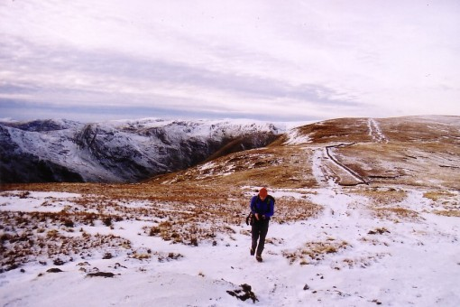 Kentmere Round in snow from Kentmere Pike