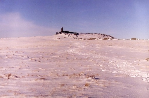 Thornthwaite Beacon in snow