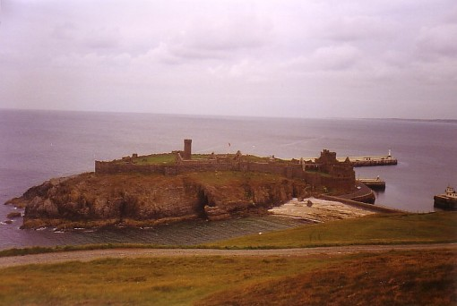 Peel Castle & Beach from Hill