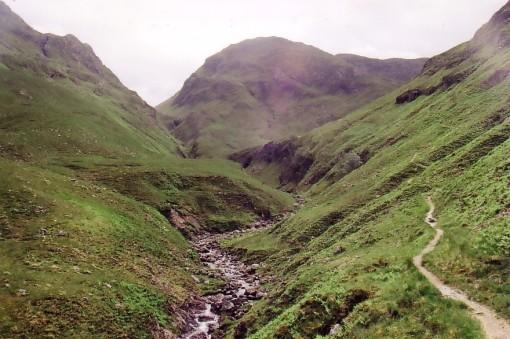 Route to Bealach Sgairne