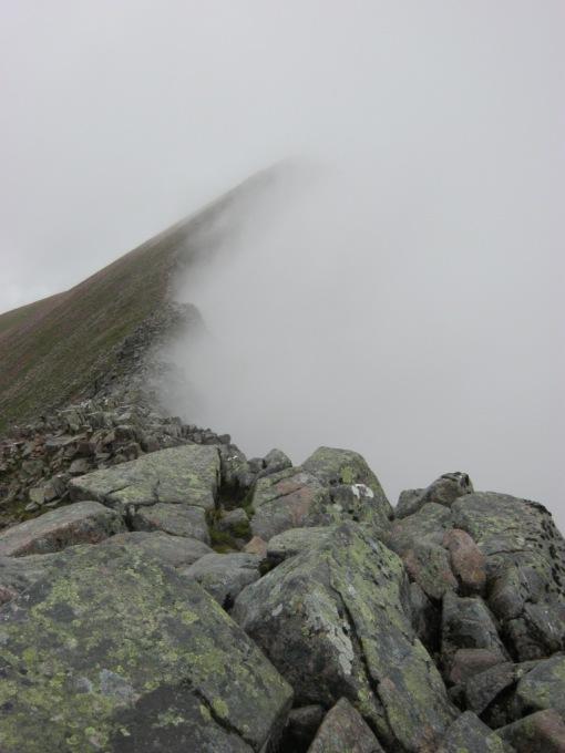 Carn Mor Dearg in mist
